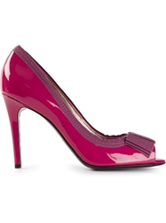 Lanvin Peep Toe Pumps Pink And Purple