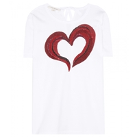 Marc Jacobs Sequin Embellished Cotton T Shirt White