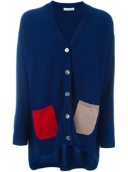 Tsumori Chisato Colour Block Cardigan Blue