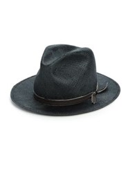 Super Duper Hats Woven Fedora Hat Blue