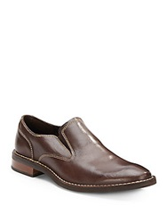 Cole Haan Canton Leather Slip On Loafers Chestnut