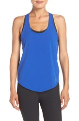 Zella Women's 'Flow Over' Woven Tank Blue Ultra