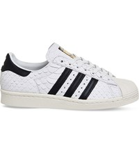 Adidas Superstar 80S Scales Effect Leather Trainers White Black Scale
