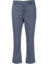 Closed Cropped Trousers Blue