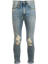 R 13 R13 Ripped Skinny Jeans Blue