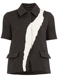 Maison Martin Margiela Jacquard Short Sleeve Jacket Black
