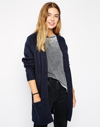Brave Soul Long Lined Cardigan With Front Pockets Ink