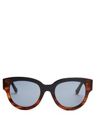 Marni Bi Colour D Frame Sunglasses Blue Multi