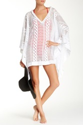 Jimmy Choo Sheer Kaftan White