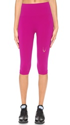 Lucas Hugh Technical Knit Capri Leggings Violet