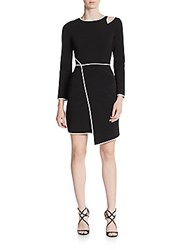 Abs By Allen Schwartz Cutout Asymmetrical Dress Black