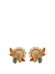 Dolce And Gabbana Cerimonia Crystal Embellished Earrings Gold Multi