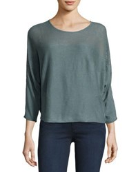 Lamade Joni Sheer Yoke Dolman Sweater Multi