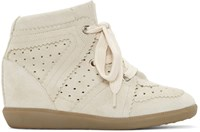 Isabel Marant Off White Bobby Wedge Sneakers