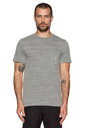 Lightning Bolt Og Triblend Pocket Tee Gray