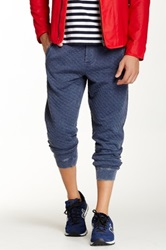 Request Quilted Jogger Blue