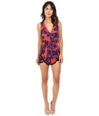 Lovers Friends Can't Let Go Romper Passion Floral Women's Jumpsuit And Rompers One Piece Red