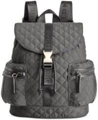 Tommy Hilfiger Quilted Solid Nylon Backpack Black