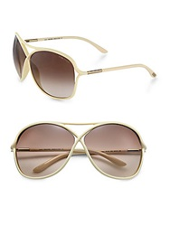 Tom Ford Vicky Oversized Oval Acetate Sunglasses Ivory