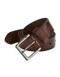Nautica Textured Leather Belt Brown
