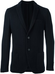 Fendi Two Button Knit Blazer Blue