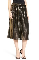 Trouve Women's Shine Pleat Midi Skirt