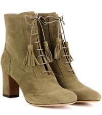 Tabitha Simmons Afton Suede Ankle Boots Green