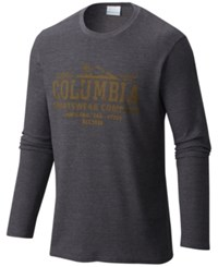 Columbia Men's Ketring Graphic Thermal T Shirt Grey