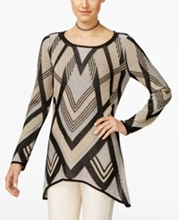 Inc International Concepts Handkerchief Hem Tunic Sweater Only At Macy's Gold