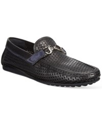 John Galliano Men's Corrado Bit Drivers Men's Shoes Blue Black