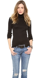 Splendid 1X1 Turtleneck Black