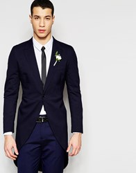 Selected Homme Skinny Wedding Suit Jacket With Stretch Navy Blue
