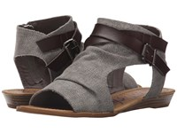 Blowfish Balla Steel Grey Rancher Canvas Grey Dyecut Pu Women's Shoes Gray