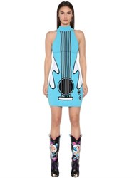 Jeremy Scott Guitar Jacquard Rayon Knit Dress