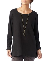 Alternative Apparel Around Town Blended Cotton Tunic Top Black