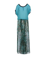 Pinko Black Dresses Long Dresses Women Turquoise
