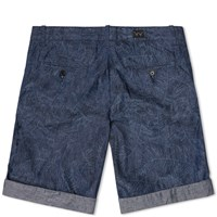 Edwin Palm Camo Rail Bermuda Short Blue