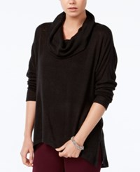 Bar Iii Cowl Neck Knit Top Only At Macy's Deep Black