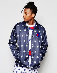 Champion Coach Jacket With Star Print Nny Navy