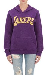 The Elder Statesman X Nba Women's Lakers Cashmere Hoodie Purple