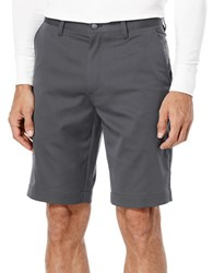 Callaway Flat Front Textured Tech Shorts Grey