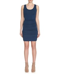 1.State Ruched Tank Dress Navy