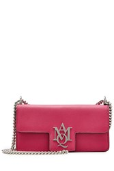 Alexander Mcqueen Leather Insignia Clutch Pink