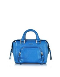 Dkny Chelsea Vintage Style Cerulean Leather Mini Satchel Bag Blue