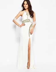 Forever Unique Skylar Maxi Dress With Twisted Embellishment White