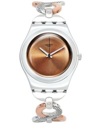 Swatch Women's Swiss Exotic Charm Two Tone Pvd Stainless Steel Bracelet Watch 35Mm Yls183g