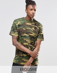 Reclaimed Vintage Oversized Camo T Shirt Camo Green