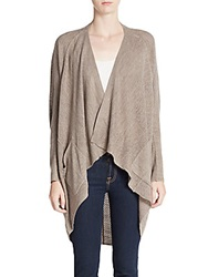 Sweet Romeo Draped Knit Cardigan Latte