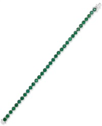 Macy's Emerald Tennis Bracelet 8 Ct. T.W. In Sterling Silver Green