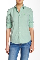 Gant By Michael Bastian Co Pop Stretch Preppy Check Shirt Green